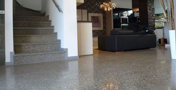 Polished Concrete Basement Floor